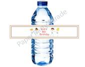 DIY Karate Party Water Bottle Wraps-digital file, printable, you print at home,karate kids, karate birthday party