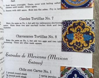 3 Magnetic Bookmarks (3) Mexican talavera designs Free Shipping set of 3 Small size
