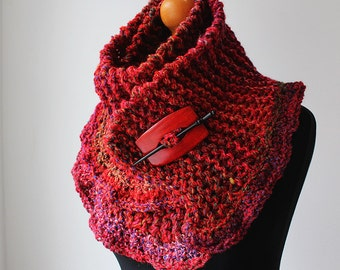 Red Frill Scarf