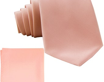 Men's Solid Mauve Pink Big & Tall Extra Long Necktie and Handkerchief, for Formal Occasions