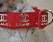 Dog Collar - Designer Doggy - Red Carpet -  50% Profits to Dog Rescue