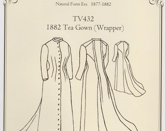 TV432 - Truly Victorian #432, 1882 Tea Gown Wrapper Sewing Pattern