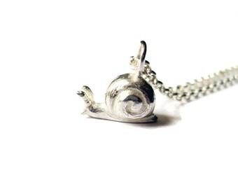 Sterling Silver Snail Pendant