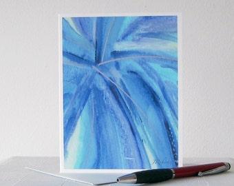 Modern Art Watercolor Card // Printed Art Notecards // Blue Abstract Art