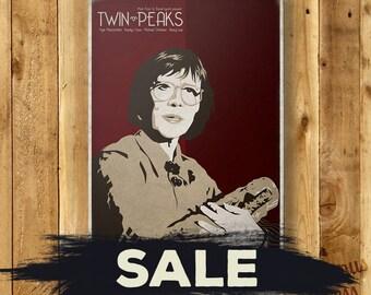 SALE // Twin Peaks - Log Lady - TV Minimalist Movie Poster