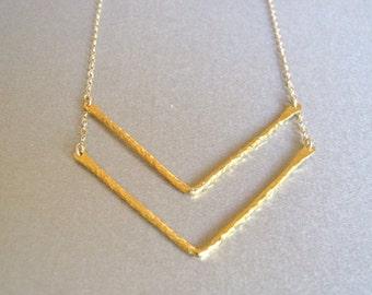 Gold Chevron Necklace