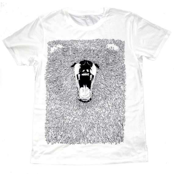 T Shirt - Grizzly Bear Screen Printed