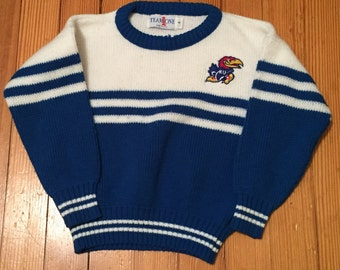 Vintage University of Kansas Jayhawks Childrens Sweater