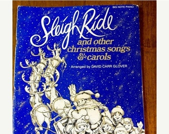 ON SALE Vintage Music Book, Sleigh Ride and other Christmas Songs