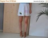 SALE 90's Skater Skirt cotton mini skirt