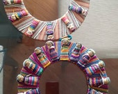 Unique Wreaths handmade by native south american indians