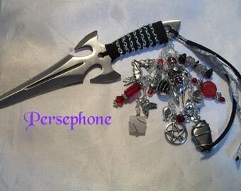 Persephone  Embellished Athame - Several Blade Styles/Sizes - -  Moonstone, Garnet, Hematite