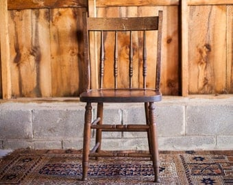 Antique Wooden Oak Chair