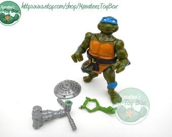 TMNT Action Figure: Headdroppin Leo Complete 90s