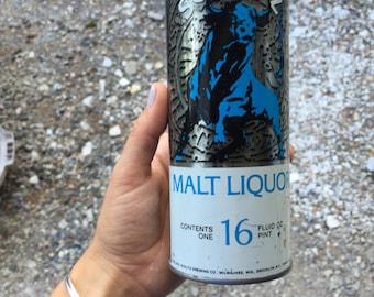 Schlitz malt liquor can vintage  bank