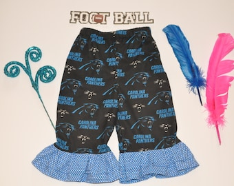 Carolina Panther double ruffle Pants 3 months - 10 years