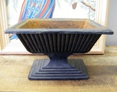 Vintage Cast Iron Garden Flower Planter Pot Urn
