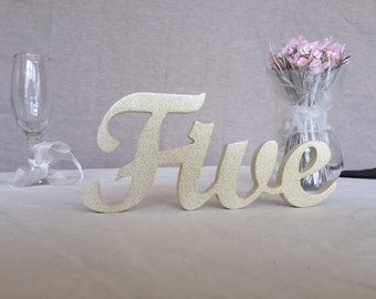 One, two, three - ten - table numbers words wedding signs, wedding reception signs, wedding table decor