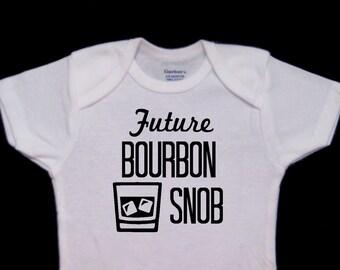 Future Bourbon Snob Funny Baby Onesie Bodysuit