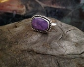 Reserved for TE Charoite stone set in sterling silver           Reserved to TA