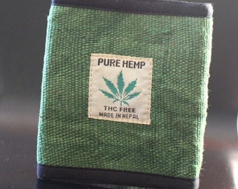 100% Natural Pure Hemp Wallet Purse Made in Nepal 3 Colors Variation
