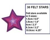 Felt star shape confetti small star felt shapes geometric shape