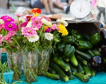 Kitchen Photography, Food Art, Green Kitchen Wall Art, Market Print, Farmers Market Art, Market Fresh