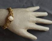 RESERVED for Tiziana: Vintage cameo bangle bracelet