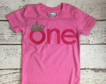 Crown 1st birthday outfit, princess first birthday shirt, little princess shirt, little princess one shirt, sparkle silver and pink, fairy