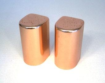Salt Pepper Aluminum Copper Rose Salt Pepper Shakers