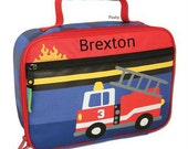 Personalized Boy Lunch Box Stephen Joseph Fire Truck