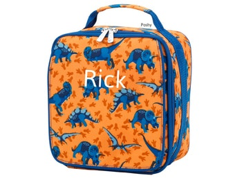 Personalized Kids Lunch box, Dino Mite Print Lunch box bag Boy monogram