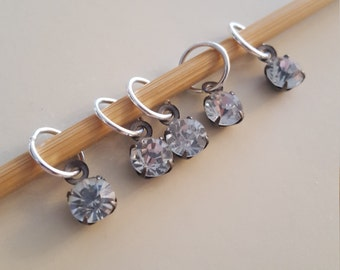 Clear Gem Knitting Stitch Markers