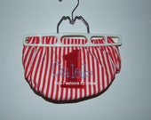 2 -Personalized Red Stripe Number /Name Diaper Covers