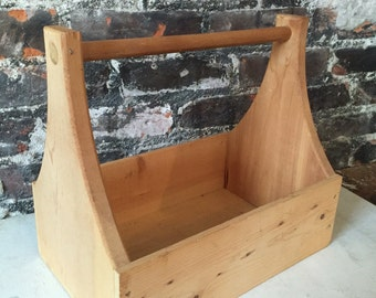 Wooden farmhouse tool caddy center piece rustic charm cottage style case