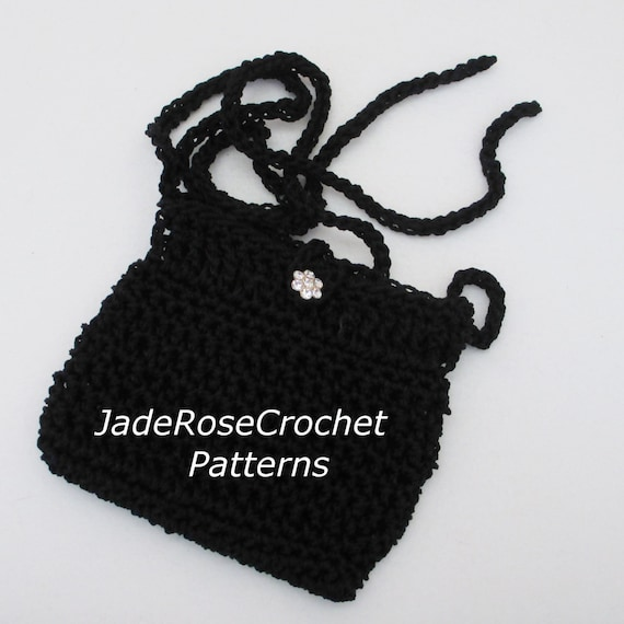 Crochet Small Purse Pattern : Crochet Shoulder Purse Pattern, Crochet Mini Bag Pattern, Mini ...