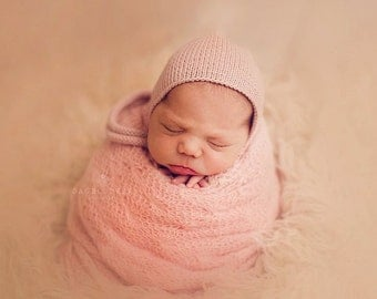 Baby Girl Bonnet Merino Hat Knit Baby Clothing Newborn Accessories Shower Gift Infant Photo Props