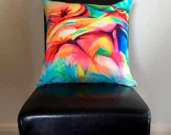 Multicolour abstract cushion cover