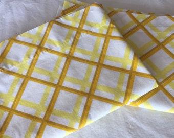 Vintage Yellow Pillowcases, Glamping