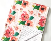 Floral Dreams Crib Blanket - Baby Blanket - Minky Blanket - Floral Blanket - Floral Baby Blanket - Girl Blanket - Floral Bedding