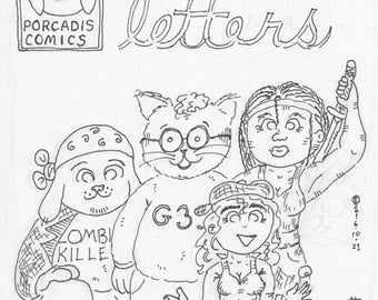 Linked Letters Coloring Book
