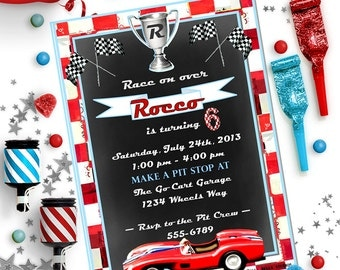 CAR INVITATION - Personalized Printable Download