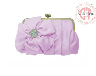 Light Pink Formal Clutch, Bridesmaid Clutch, Wedding clutch, Custom Bridesmaid gift