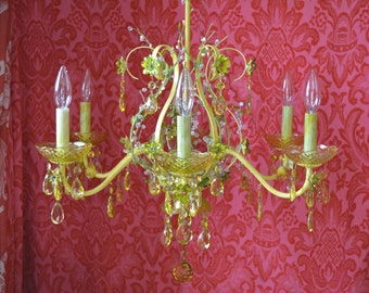 Chandelier Lighting, Woodland Canary Diamond, One of a Kind, Layaway Available