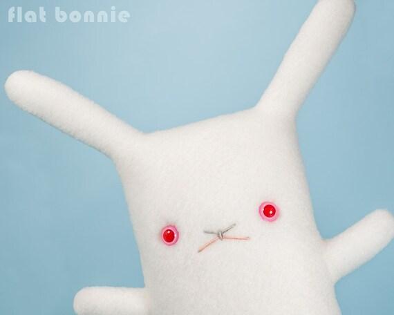 White rabbit stuffed animal, Red eye bunny toy, Cute REW bunny gift, Albino rabbit plush doll, White with Ruby Eyes REW, kawaii cute plushie