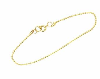 Ball chain Bracelet Necklace fine silver