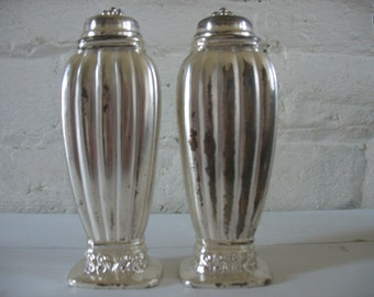 Vintage Monroe Silver Co Danish Salt and Pepper Shakers