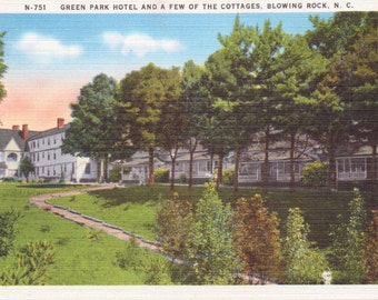 Blowing Rock, North Carolina, Green Park Hotel, Cottages - Linen Postcard - Unused (OO)