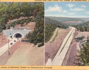 Pennsylvania Turnpike, Pennsylvania, Laurel Hill Tunnel, Kittatinny Tunnel - Vintage Postcard - Postcard - Unused (A9)