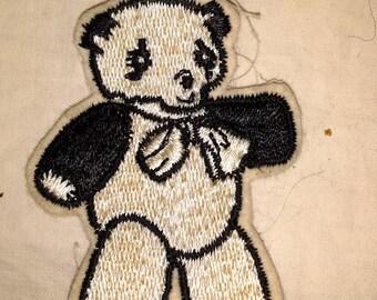 Vintage Jacket Patch Panda Bear
